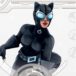 Catwoman accroupie