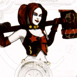 Harley Quinn with hammer