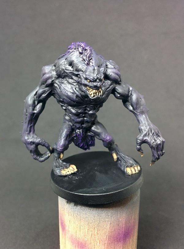 Démon noir face