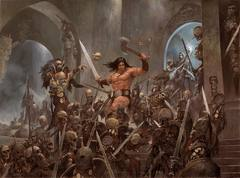 Les Illustrations d'Adrian Smith  - Conan