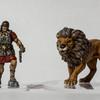 Amra et lion