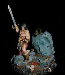 Conan (Sygill Forge) explorant d'antiques ruines.
