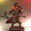 Le Conan Seigneur de guerre du jeu de Monolith. Une superbe figurine sculptée par JAG.