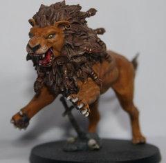 Lion Némée face