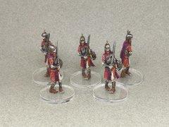 Squelettes avec des épées et des boucliers, genre les frimeurs.