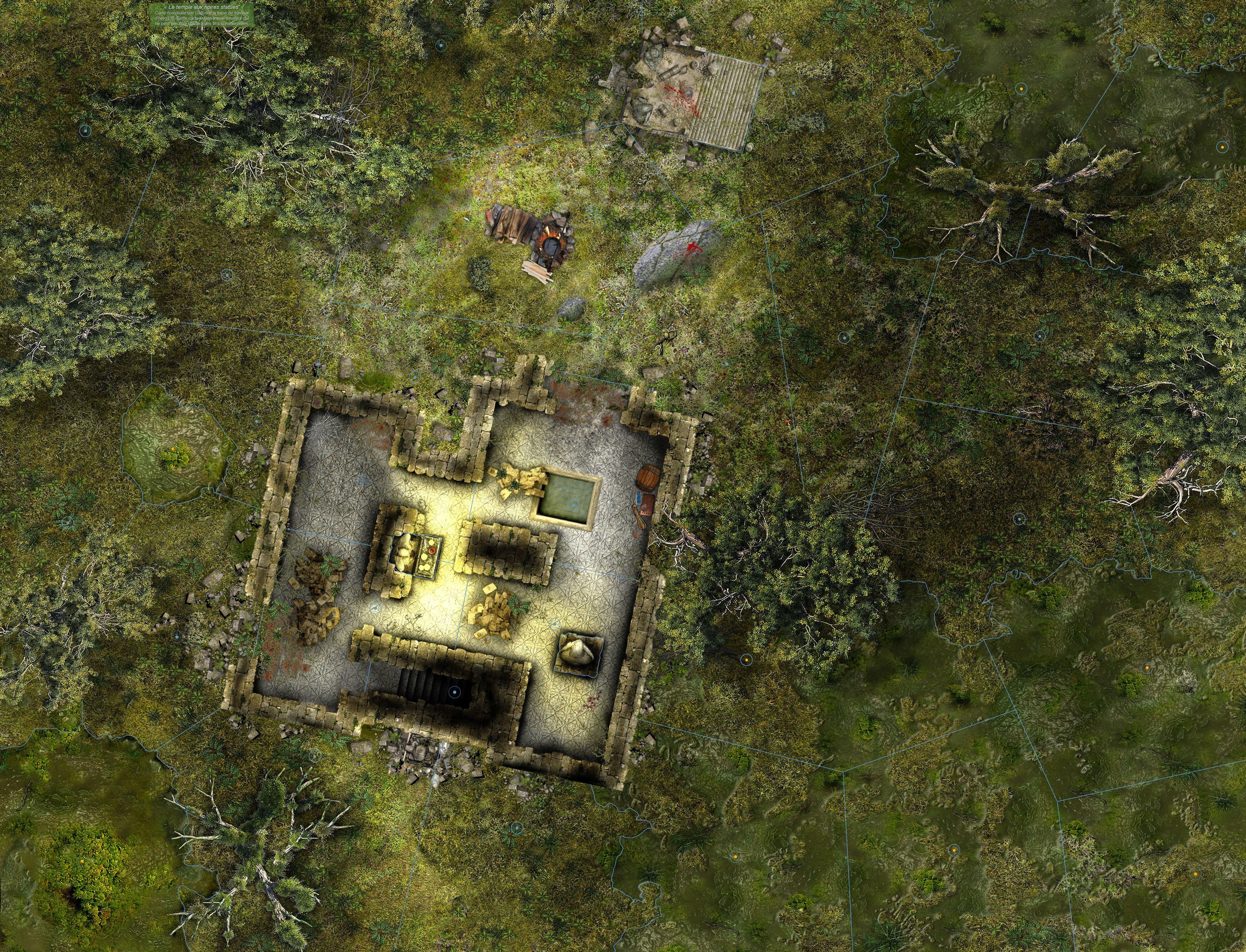 Map amateur : Le temple aux noires statues