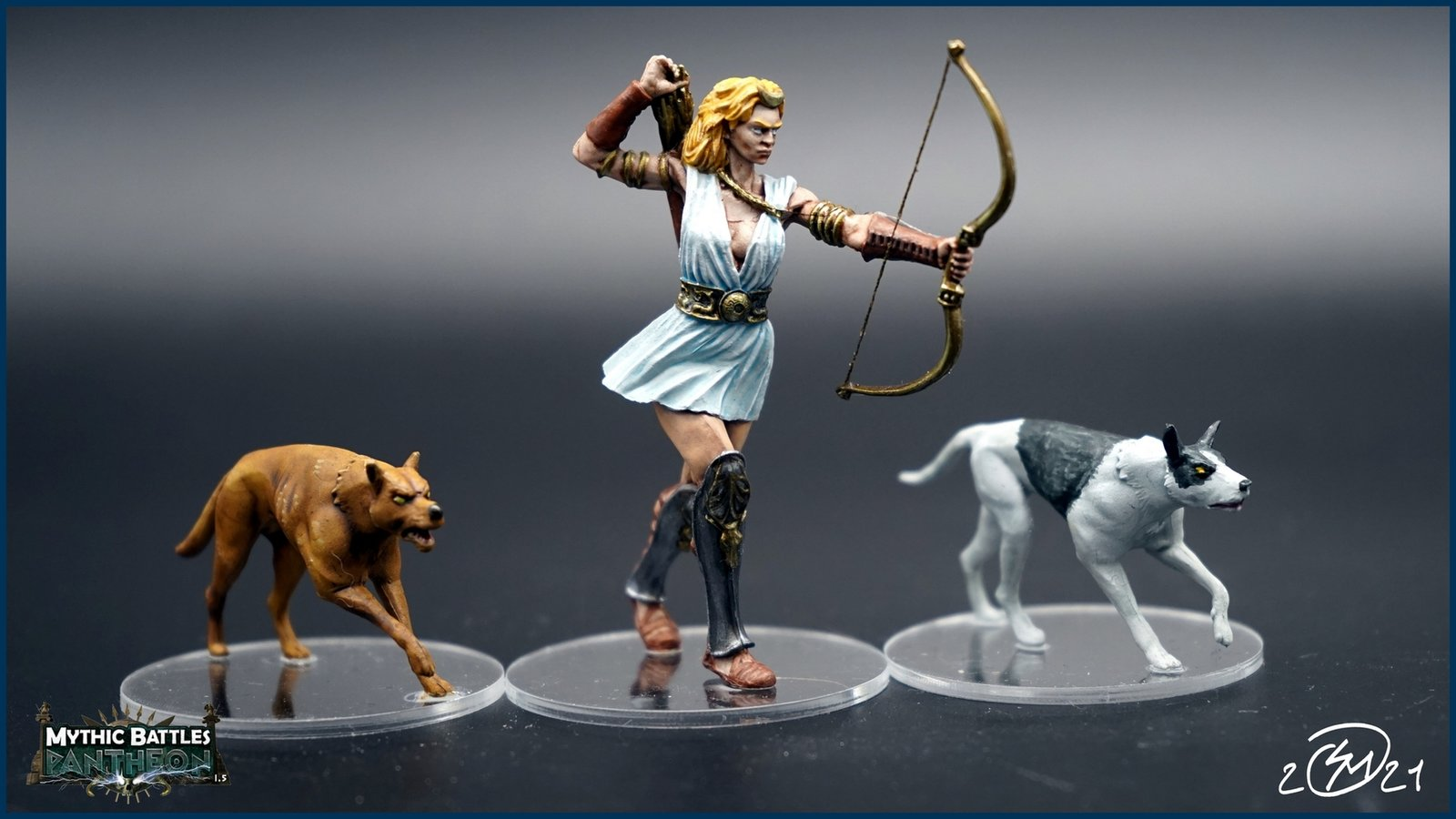Artémis et ses chiens